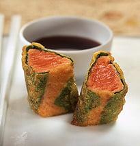 Won-ton de salmón salvaje con salsa Teriyaki