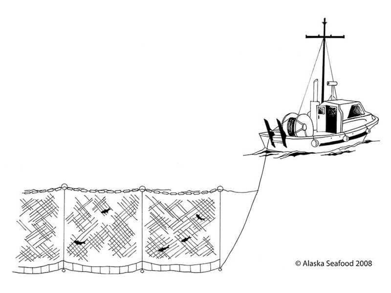Pesca con redes de Enmalle